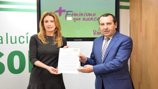 Ruiz Espejo y Antonia García anuncian que el PSOE se suma al huelha 8 marzo