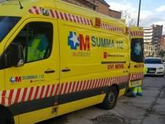 Accidente laboral en el Paseo de la Habana