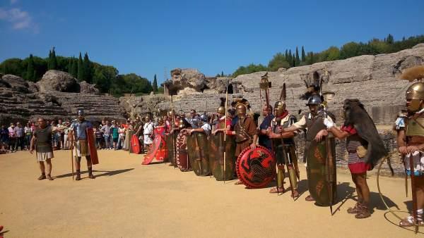 Recreación histórica en Itálica