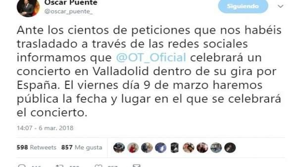 Mensaje de Puente en Twitter