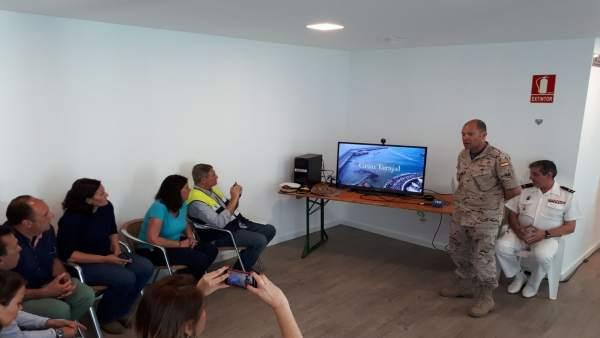 Reunión del PECMAR por el vertido en Gran Tarajal (Fuerteventura)