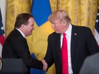 Donald Trump y Stefan Lofven