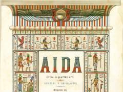 Partitura de Aida, 1888