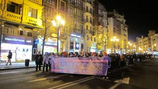 Manifestación del Día Internacional de la Mujer en Santander