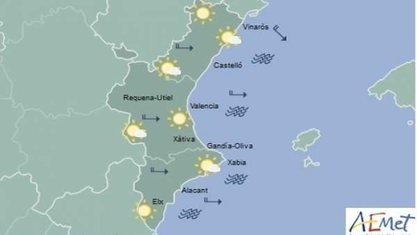 Cels clars i màximes de 19ºC aquest dimecres a la Comunitat Valenciana