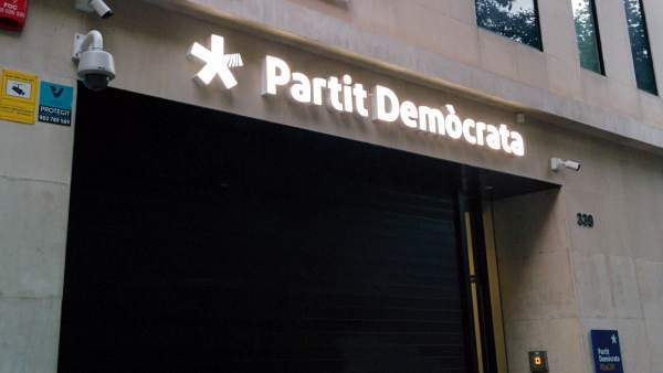Sede del PDeCAT en la calle Provença de Barcelona.
