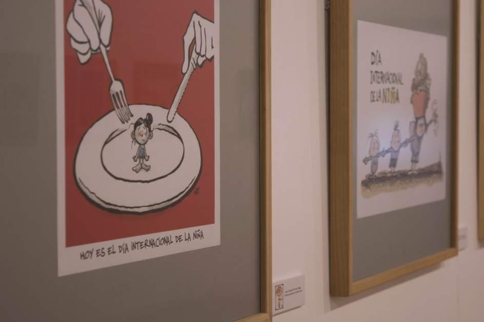 Viñetas de la exposición 'El futuro lo dibujan las niñas'.