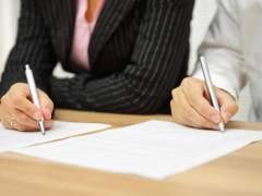 Firma de un divorcio