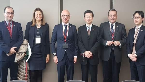 Encuentro De Los Miembros De La Misión Institucional Y Empresarial En Japón