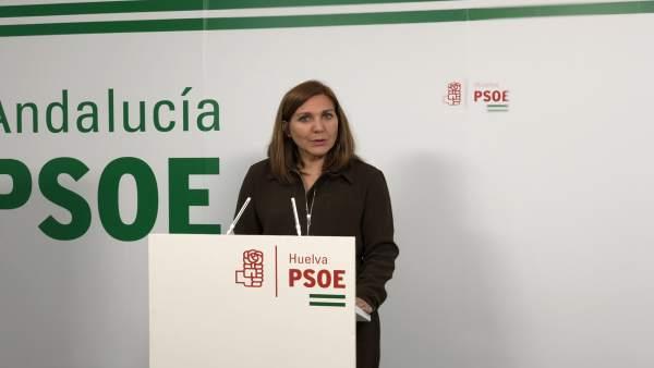La secretaria general del PSOE de Palos, Belén Castillo.