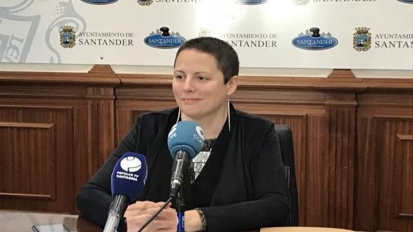 La portavoz de Ganemos, Tatiana Yáñez-Barnuevo