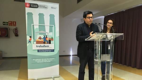 Gerardo Pisarello y Laura Pérez presentan el Plan de Desarrollo Económico.