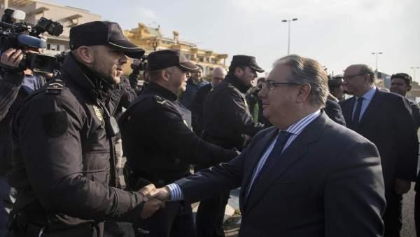 Zoido informa de las operaciones policiales contra el narcotráfico en Cádiz