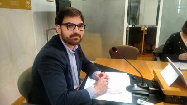 El portavoz parlamentario de Ciudadanos, Diego Ubis