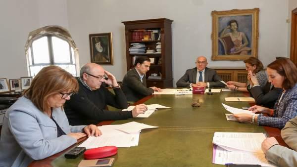 Reunión del presidente con los portavoces