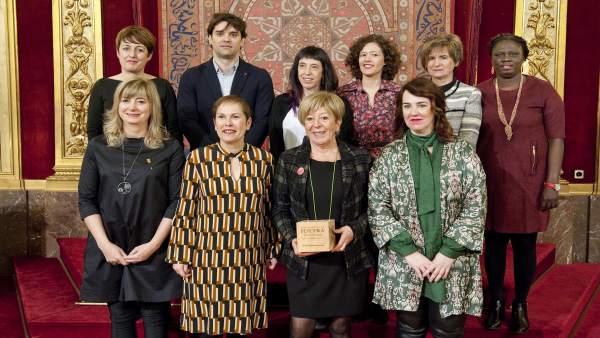 Blanca Fernández Viguera, premio Berdina a la Igualdad de Navarra.
