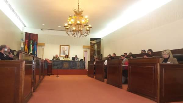 Pleno de la Diputación de Huelva del 7 de marzo de 2018.