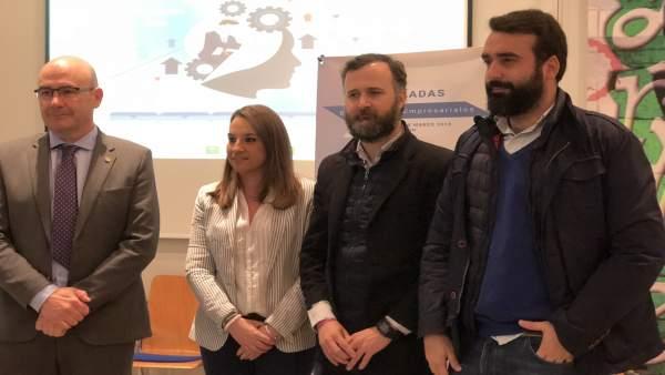 Ruiz y Castejón (centro) en la inauguración de las jornadas