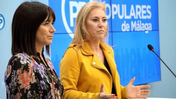 Carolina España y Ruth Sarabia. PP Málaga