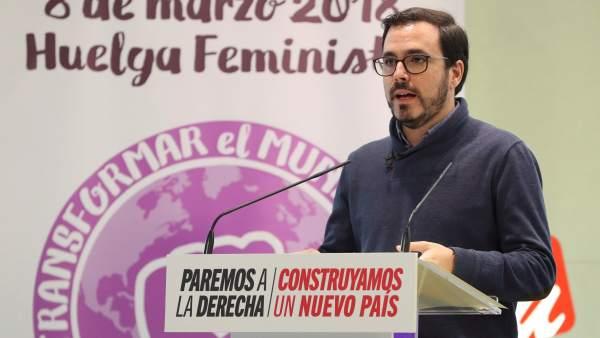 Alberto Garzón, coordinador federal de IU.
