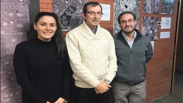 El profesor García Verdugo y otros dos investigadores