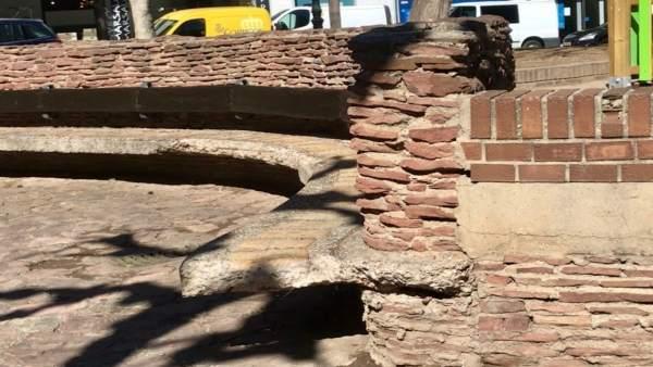 Deterioro en la plaza Salamero