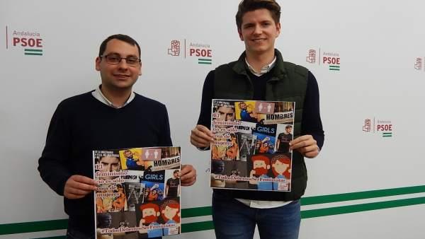 López y Garcia en la sede del PSOE de Córdoba