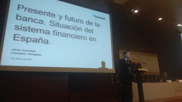 Jaime Guardiola, consejero delegado del Banco Sabadell en Forinvest