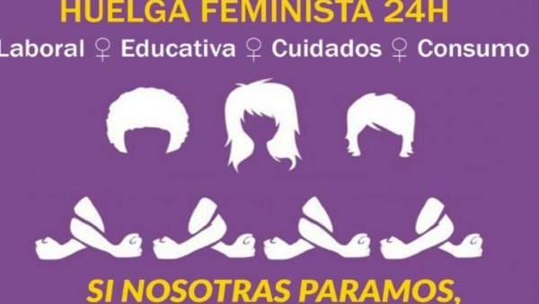 Cartel de la huelga feminista del 8 de marzo
