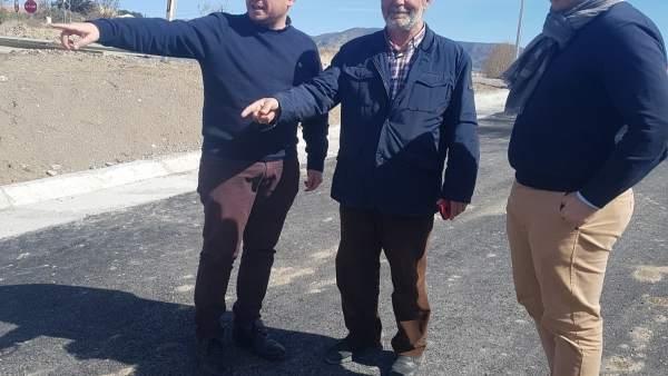 Visita a las obras de seguridad en Armuña del Almanzora