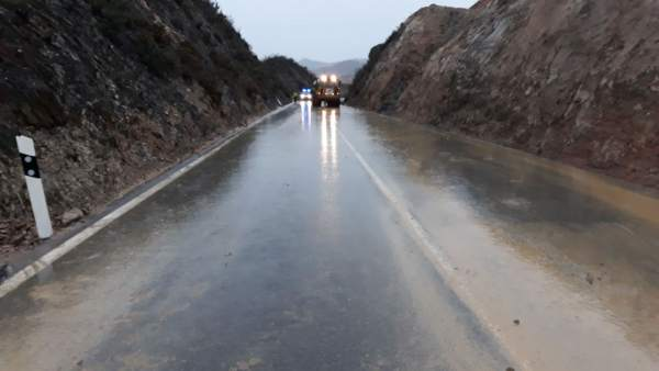 Reabierta la carretera A-461 de la Cuenca Minera de Huelva tras el temporal