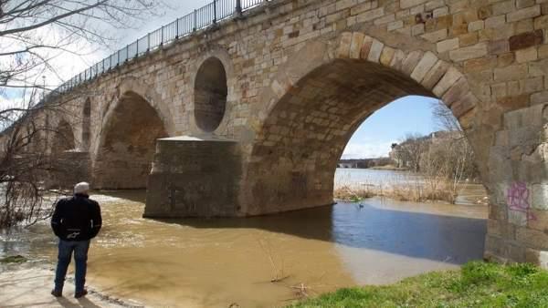Crecida del río Duero en Zamora