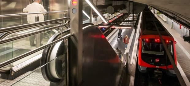 Una de las estaciones del Metro de Barcelona.