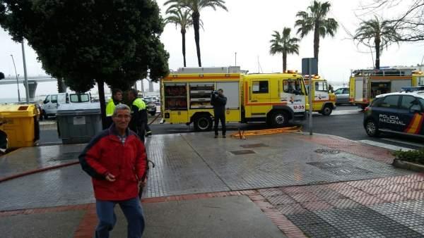 Incendio en una vivienda en Cádiz