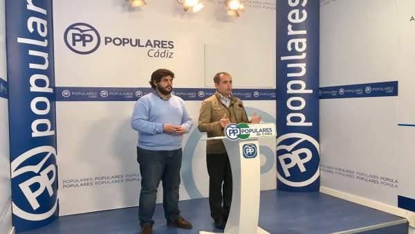 Antonio Saldaña, secretario general del PP de Cádiz en rueda de prensa