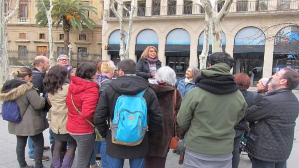 CHA ha recreado la concentración del 8M de 1936 hoy en la plaza Aragón