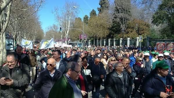 MANIFESTACIÓN REGANTES EN MADRID