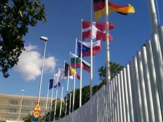 Entrada a la EUIPO, en Alicante