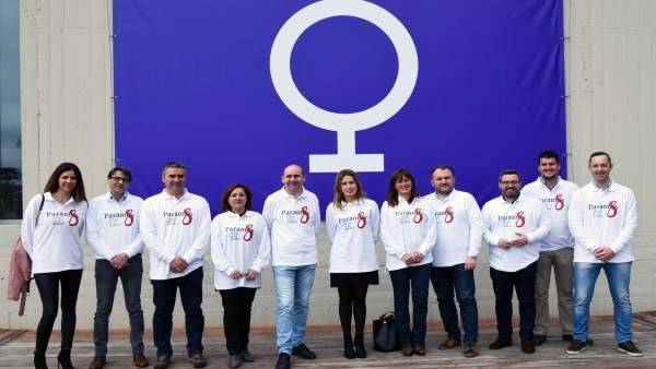 PSOE en la Diputación en el 8 de marzo