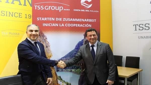 Elías Bendodo firma un acuerdo con TSS Group turoperador alemán Manuel Molina
