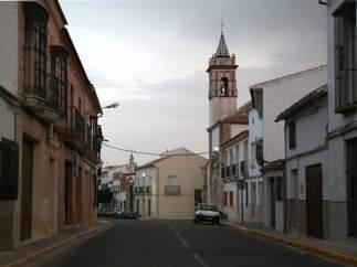 Una calle del pueblo de La Roda