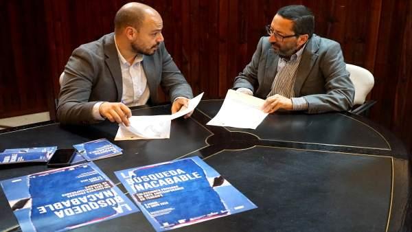 Firma del convenio de difusión de actividades culturales