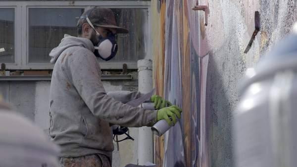 El dúo español de arte urbano Pichi & Avo