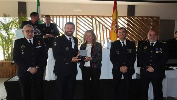 Alcaldesa de Marbella en el acto del patrón de los bomberos