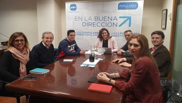 Prensa Pp Regional . Fotonoticia Reunión Patricia Fdez. Comunicado Libertad E Ig