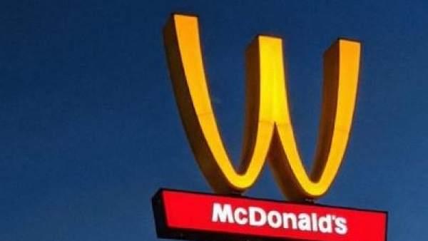 El logo de McDonald's, del revés