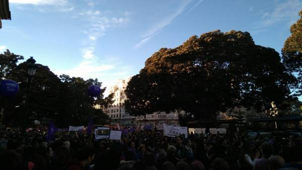 Manifestación del 8 de marzo, Día de la Mujer, en València