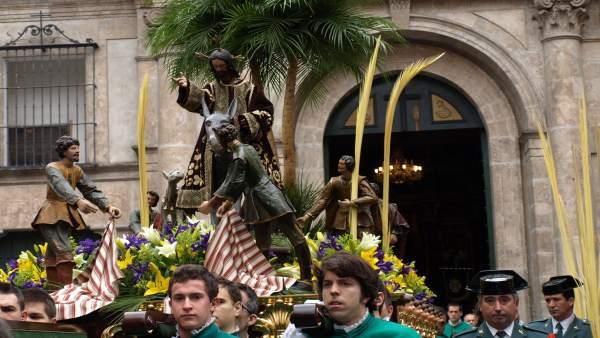 Procesión del Domingo de Ramos en Valladolid