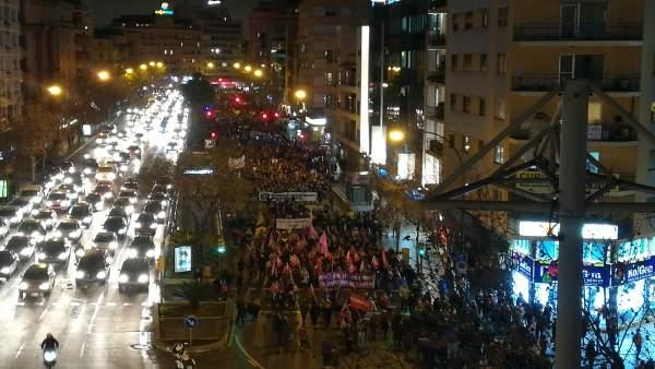 Manifestación En Palma Por El 8M