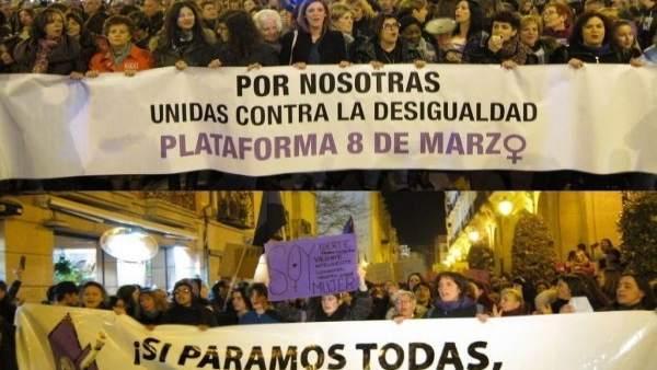 Manifestaciones feministas en Logroño
